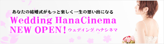 ハナシネマプロデュースの結婚式専門ビデオサイト