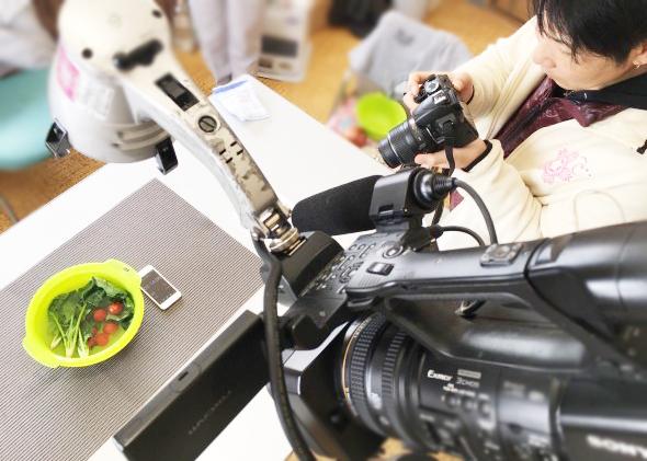 野菜洗浄剤の広告用ハウツー動画撮影