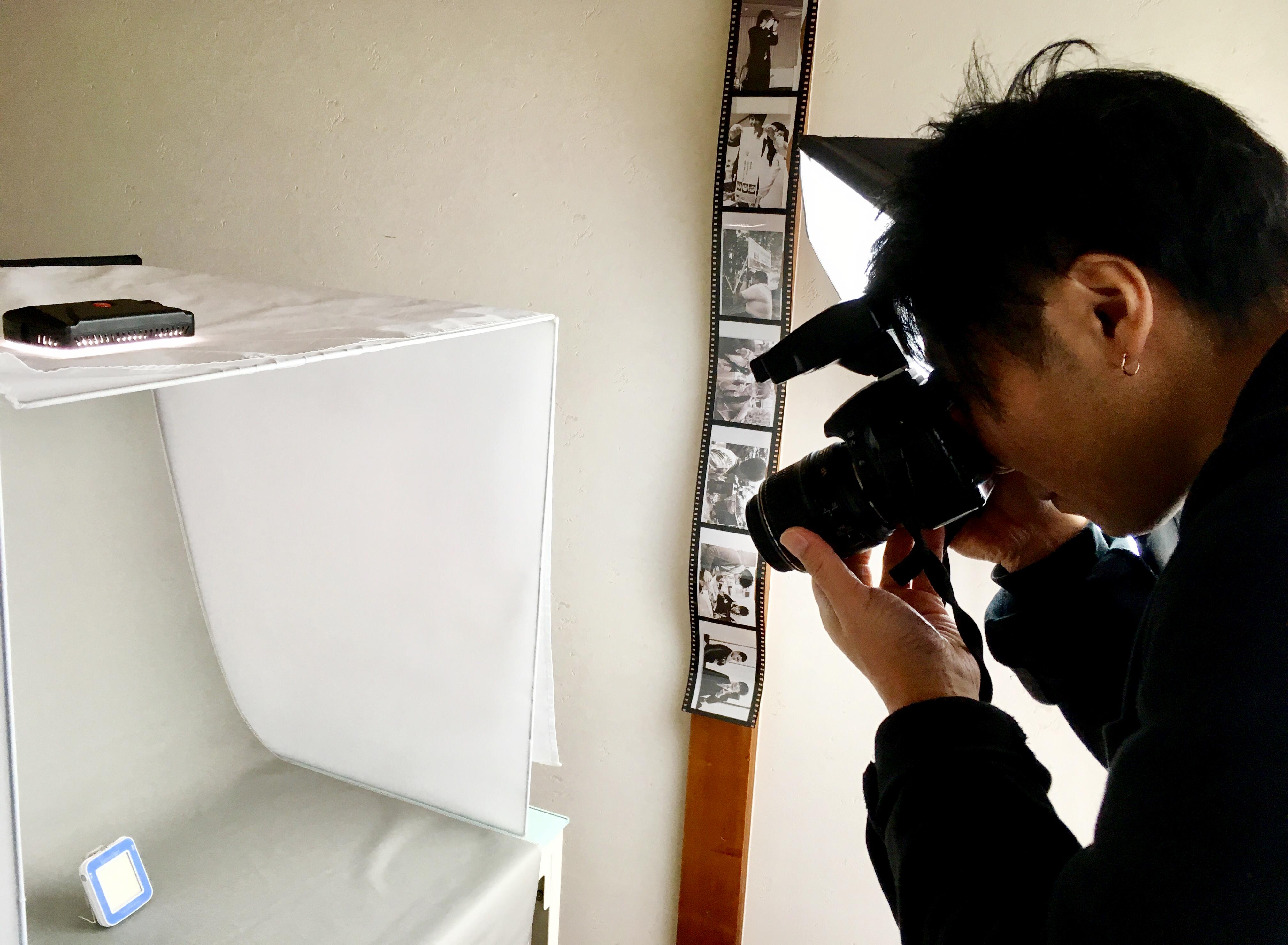 撮影スクリーンボックスで物撮り