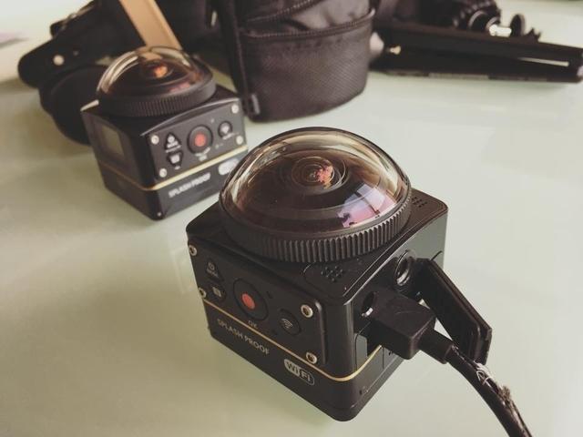 VR360°カメラ設定中