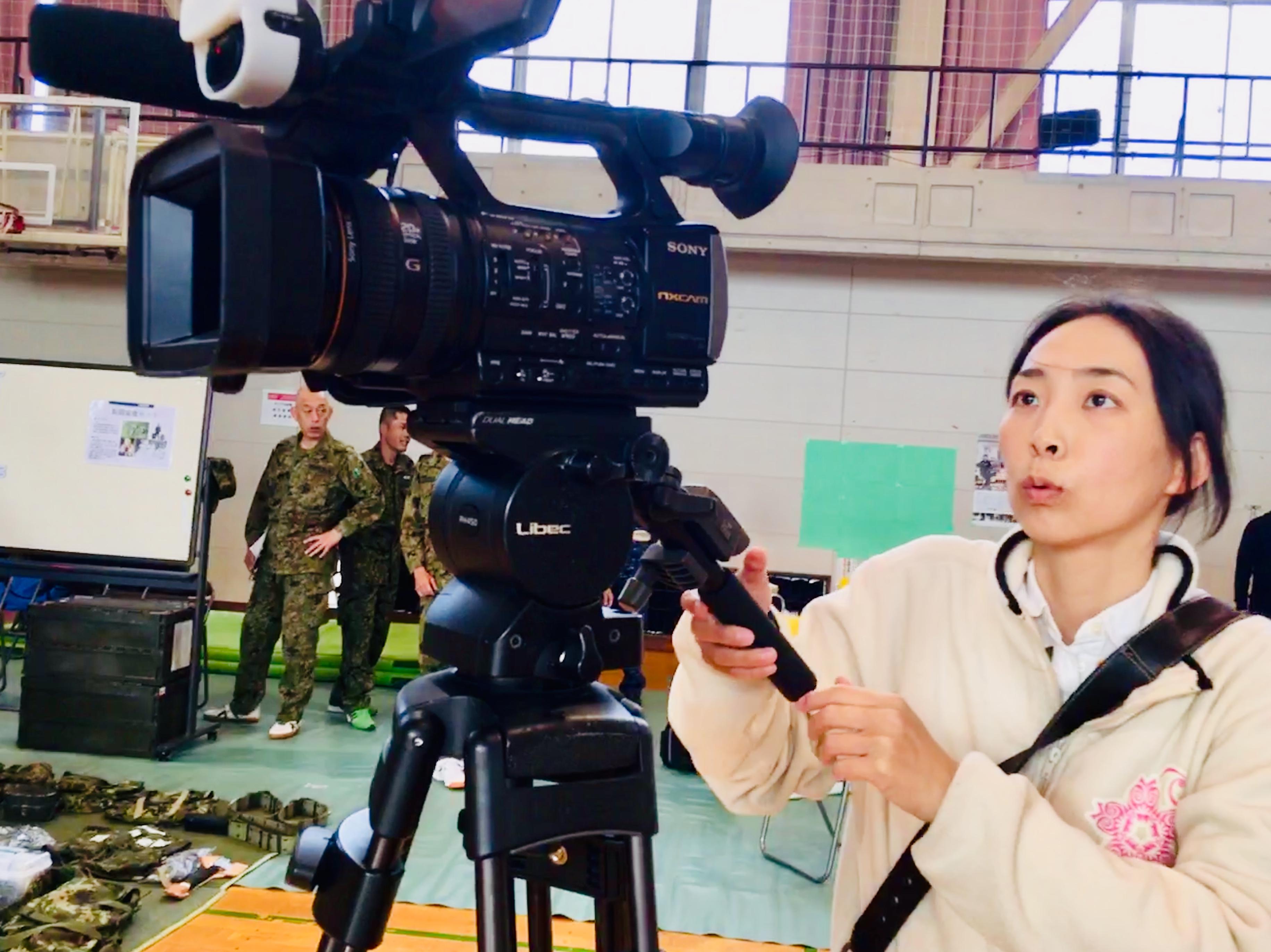 映像制作体験わくわくワーク置賜農業高等学校で撮影
