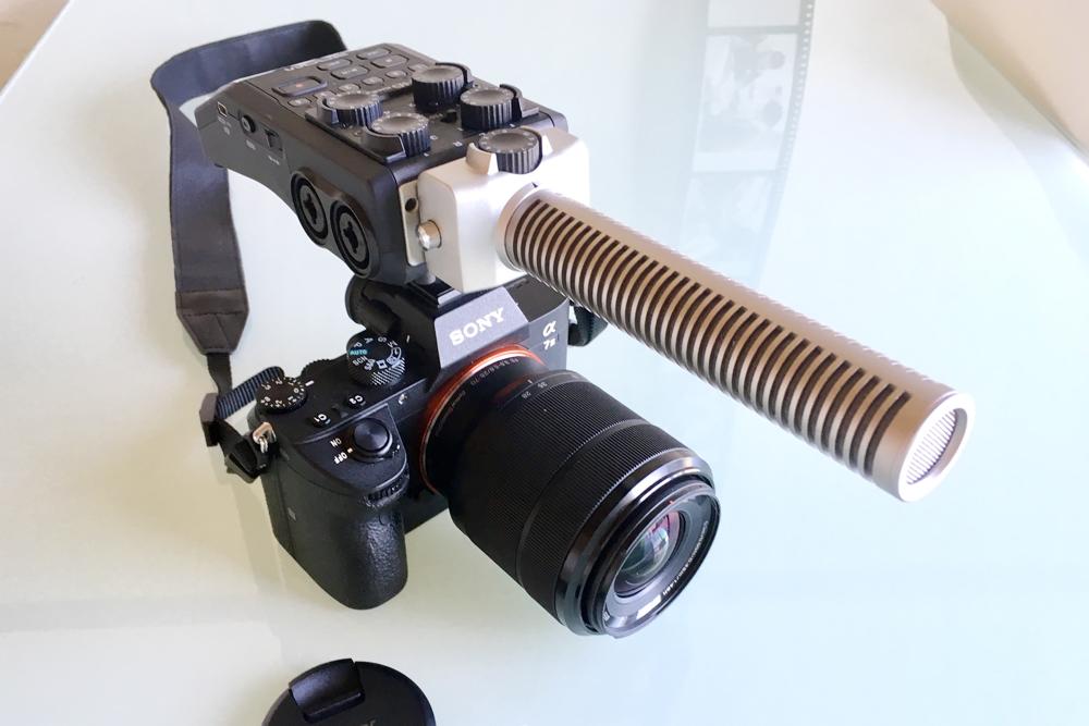 一眼レフカメラ動画仕様ハンディーレコーダーH6装着