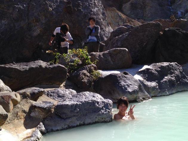 秘湯の温泉動画撮影
