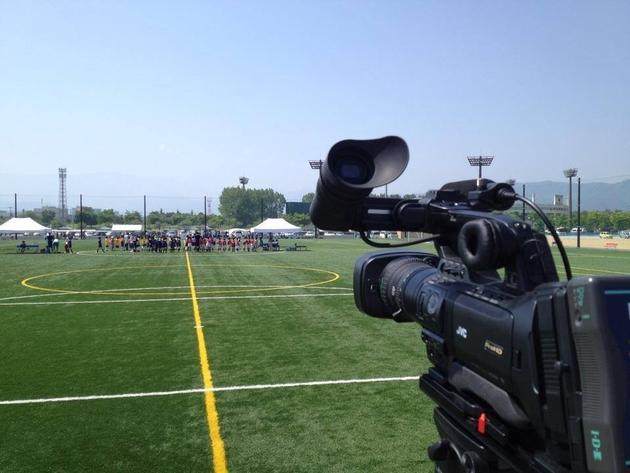 サッカー大会試合動画撮影