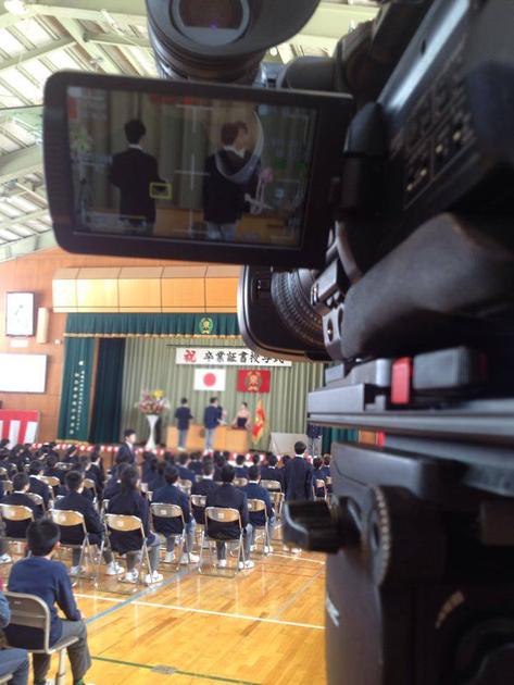 卒業式録動画撮影