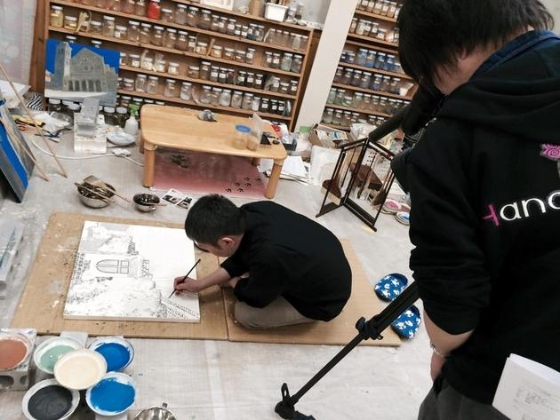 プロモーション用絵画制作動画撮影